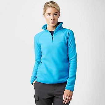 New Berghaus Women's Hartsop Half Zip Fleece Clothing Blue
