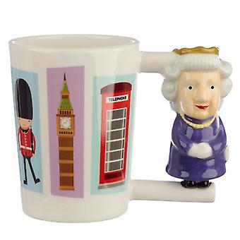 Tazza in ceramica a manico a forma da collezione - regina