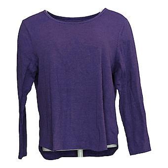 Carole Hochman Women's Petite Top Long Sleeve Purple A381868