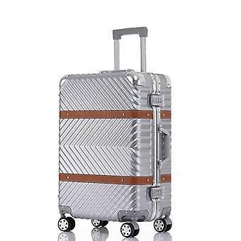 Naarmuuntumaton rullatavara, spinner-matkalaukku, pyörät matkustamovaunu, alumiini
