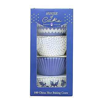 House of Cake China Blue Cupcake Cases - single