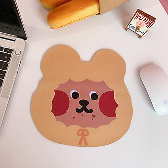 Oso ratón pad encantador kawaii lindo ratón mat escritorio estera impermeable office home decoration cup mat