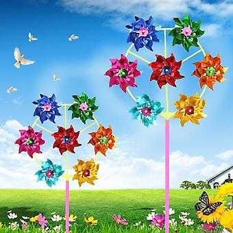 Colorful Diy Sequins Wind Spinner Home Garden Yard Decoration