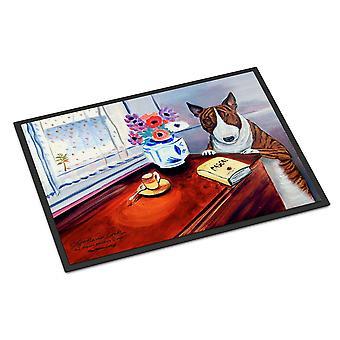 Caroline's Treasures 7249JMAT Bull Terrier Zerbino interno o esterno, 24 x 36, Multicolor