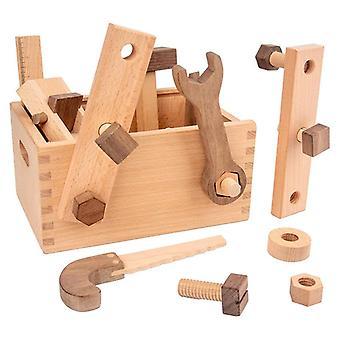 Дети Монтессори Деревянные, Многофункциональный набор инструментов, Притвориться играть, Дошкольное, Baby