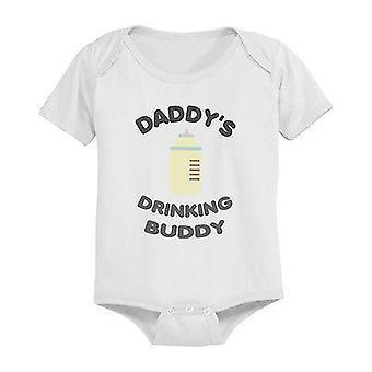 Daddy's Drinking Buddy Cute Baby Bodysuit -