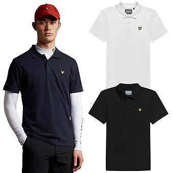 Lyle & Scott Mens 2021 Sleeve Logo Stretch Duurzaam Lichtgewicht Golf Polo Shirt