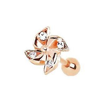 Rose Gold Adorned Pinwheel Cartilage Earring