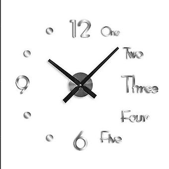 Wall Clock Stickers 3d Modern Watch