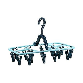 Multifunctional Hangers Foldable With 16 Clips