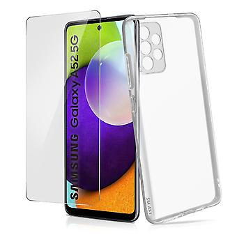Galaxy A52 5G Hard Cover and 4Smarts Tempered Glass 9H Screen protector clear