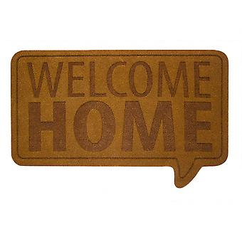 fußmatte Welcome Home 45 x 70 cm Polyester/PVC braun