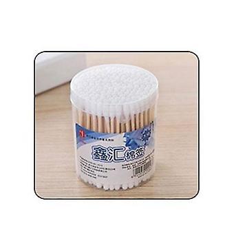 Podwójna głowica waciki bawełniane Uniwersalne Bezpieczne Wysoce chłonne higieniczne czyszczenie