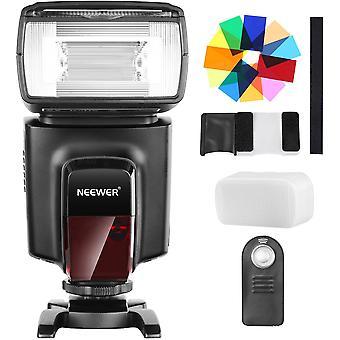 HanFei TT560 Flash Speedlite mit 12 Farbfiltern und IR Drahtlose Fernbedienung Kit fr Canon Nikon