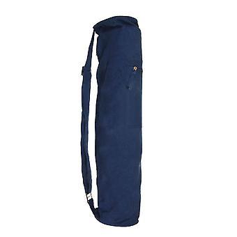 Fitness Mad Jute Bag Eco Friendly Yoga Fitness Equipment Carrier- Dark Blue