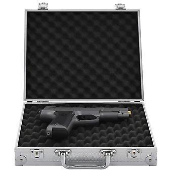 vidaXL Caso de Arma De Alumínio ABS Prata