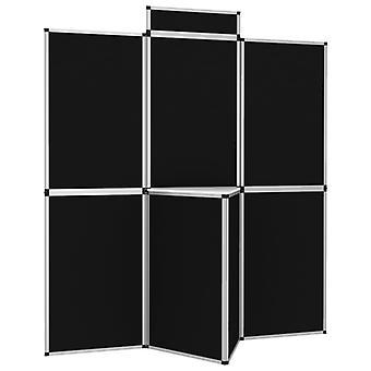 vidaXL 8-panel folding display exhibition wall with table 181×200 cm black