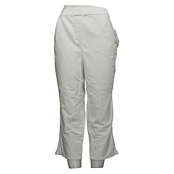 Quacker Factory Women's Pants DreamJeannes Pull On Crop White A306460