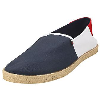 Tommy Jeans Essential Mens Espadrille Shoes in Red White Blue