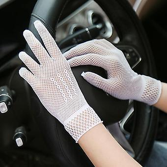 Sexy čipka von opaľovací glove, ženy letné elastické rukavice