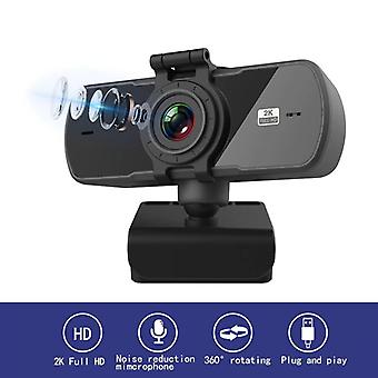 Webcam 2K Computer PC WebCamera with Microphone for Live Broadcast Video Calling Webcams(2k)