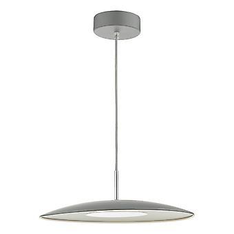 DAR ENOCH Dome Enkelt LED Vedhæng Lys Matt Grey, 1x LED
