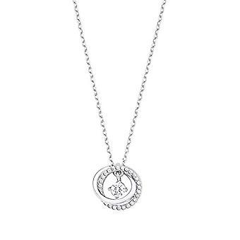 Amor - Kvinders halskæde med skinnende sølv vedhæng 925, med hvide zircons(1)