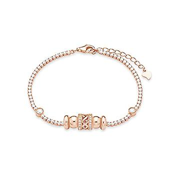Amor FINENECKLACEBRACELETANKLET - Wrist jewelry, with cubic Zirconia, silver, 20 centimeters null null null null