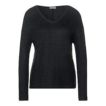 Street One Style Debby T-Shirt, Melange Antracite, 48 Woman