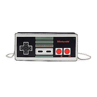 Nintendo Nes Controller - Women's coin purse, zippered, multicolored (Lb902006Ntn), 24 cm, black