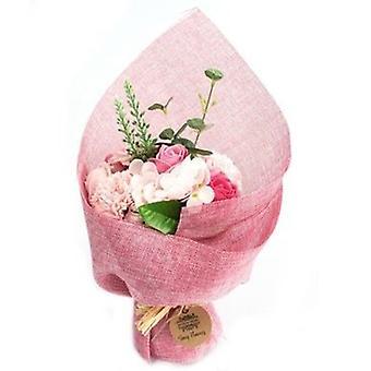 Standing Soap Flower Bouquet - Pink