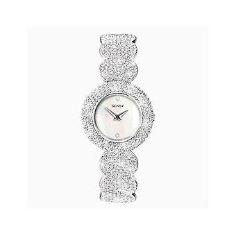 Seksy Ladies 4851 Elegance Swarovski Crystals Set Bracelet Watch