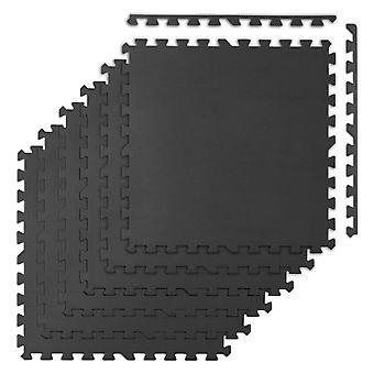 Fitness foam tegel vloerbescherming 180 x 120 cm – Zwart