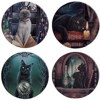 Lisa Parker Magiczne koty zestaw 4 podstawki