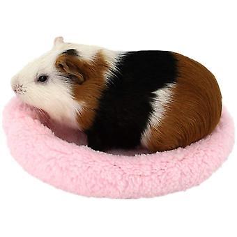 Měkká, pohodlná kulatá teplá fleecová křeččí postel spánková podložka pro krysy, ježka, veverka, morče, malá zvířata