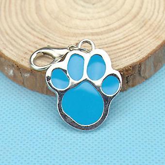 Klassinen lemmikki merkki koira jalanjälki riipus söpö kirjaimet identiteetti tag kaulus
