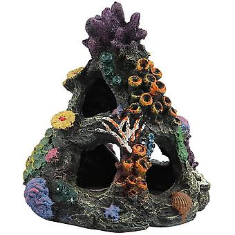 Coral Aquarium Décoration Fish Tank Resin Rock Mountain Cave Ornements Betta Fish House For Betta Sleep Rest Hide Play Breed