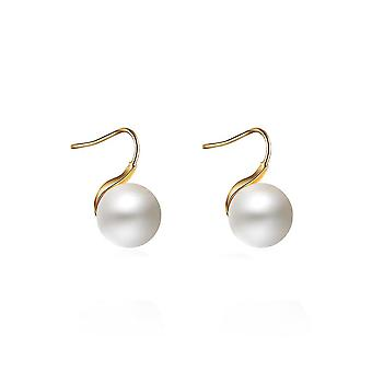 Eardrops Multicolored Shell Pearls 14k Gold Plated Earrings For Daily Use