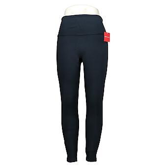 Spanx Women's Leggings Reg Ankle Length Ponte Hem Slit Blue A369380