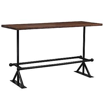 vidaXLバーテーブル再生ウッドソリッドダークブラウン180x70x107 cm