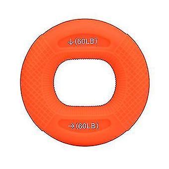 指筋肉強化トレーニング用調整可能なシリコーングリップ(オレンジ)