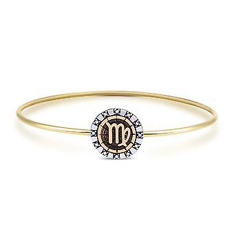 Biggdesign Virgo Bracelets en argent pour femmes, Zodiaque, Pierre de zircon, Bijoux spéciaux Zodiac, Argent sterling 925