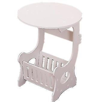 Mini Plastic Round Coffee Table Tea Table Home Living Room Storage Rack Bedside Table Tea Fruit