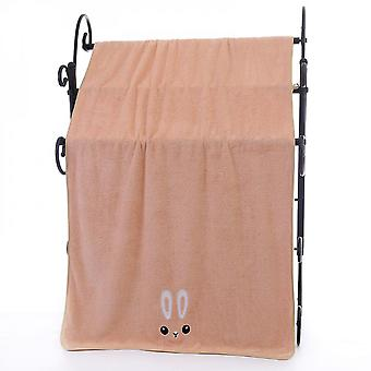 Factory Wholesale Edging Embroidery Coral Fleece Bath Towels In Stock, Soft Absorbent Adult Face Towels, Gift Towels