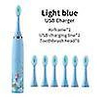 Kinderen elektrische tandenborstel kinderen schattige cartoon patroon waterdichte slimme reiniging ipx7 sonic