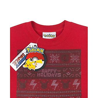 Pokemon Kinder/Kids Happy Holidays Christmas Sweatshirt