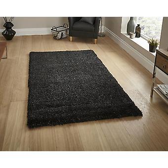 Loft 01810A sort rektangel tæpper almindelig/næsten almindelig tæpper