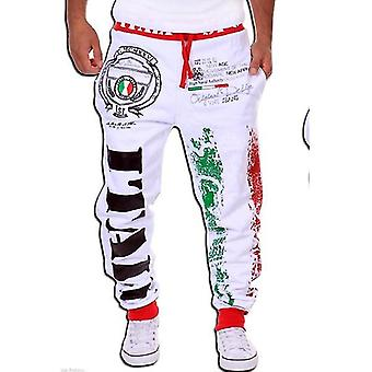 Menins Casual Sweatpants - Italian Flag Print Design