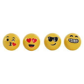 Taille-crayon DKD Home Decor Emoji Yellow Metal PS (4 pcs)