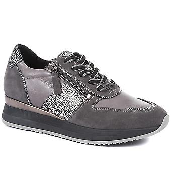 Regarde Le Ciel Womens Ray Patterned Leather Trainers